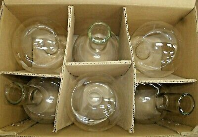 Lot Of 6 Bomex 500ml Round Bottom Boiling Flask-science Lab-american Edu-new
