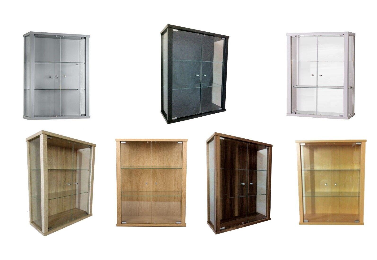 Glasvitrine │ 80x60x25 cm │Sammlervitrine 2 Glasböden Hängevitrine