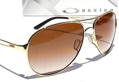 NEW* Oakley CAVEAT Gold 60mm Aviator VR50 Brown lens Women's Sunglass 4054-01 for sale  Temecula