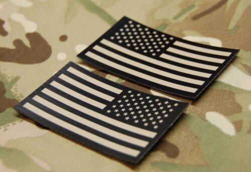 Infrared US Flag Uniform Patch Set Tan & Black Navy SEAL NSWDG US Army Hook