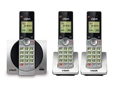 3-Handset Cordless Phone Digital System Dec 6.0 ID Call Waiting Home Office Set Digital 3 Handset System
