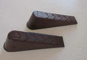 NEW Brown Rubber Wedge Door Stop (2) Made in USA