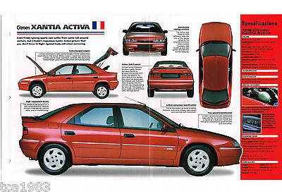 1997 / 1998 Citroen Xantia Activa Imp Brochure