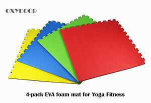 New 4 pack Yoga Gym Fitness Interlocking EVA Foam Floor Mat children room