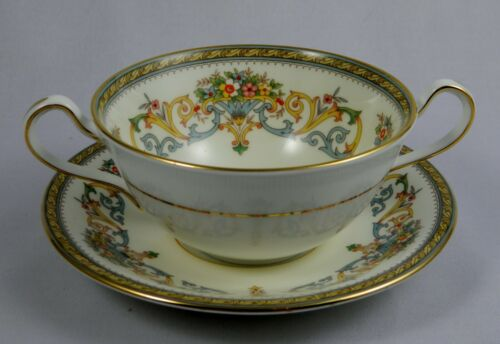 AYNSLEY HENLEY Cream Soup Cup & Saucer Set