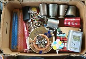Lots of Items for Markets Garage Sale Vintage Ceramics Pewter Mugs