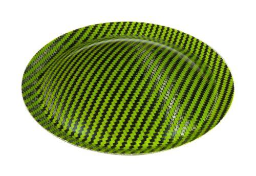 "Lime Green 6.5"" (165mm) Carbon Fiber Subwoofer Dust Cap"