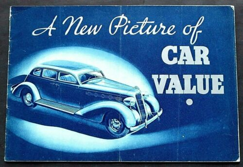 ORIGINAL 1935 PLYMOUTH SALES BROCHURE ~MODELS AND FEATURES~ 24 PAGES ~ PLY35