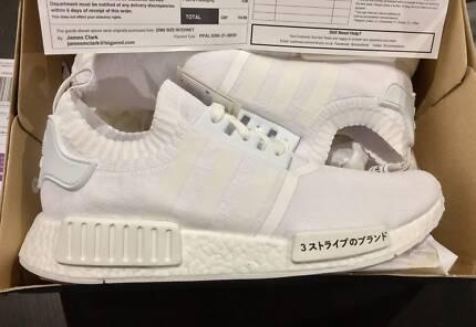 New Adidas NMD R1 PK Japan Primeknit White US 9.5 UK 9 DS