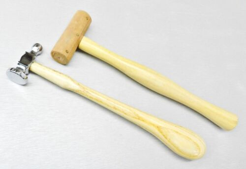 Jewelers Chasing Hammer & Rawhide Mallet Set Jewelry Making Tools -Set of 2