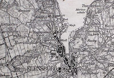 FLENSBURG, Großblatt 3, Karte des Deutschen Reiches, 1:100.000, um 1920