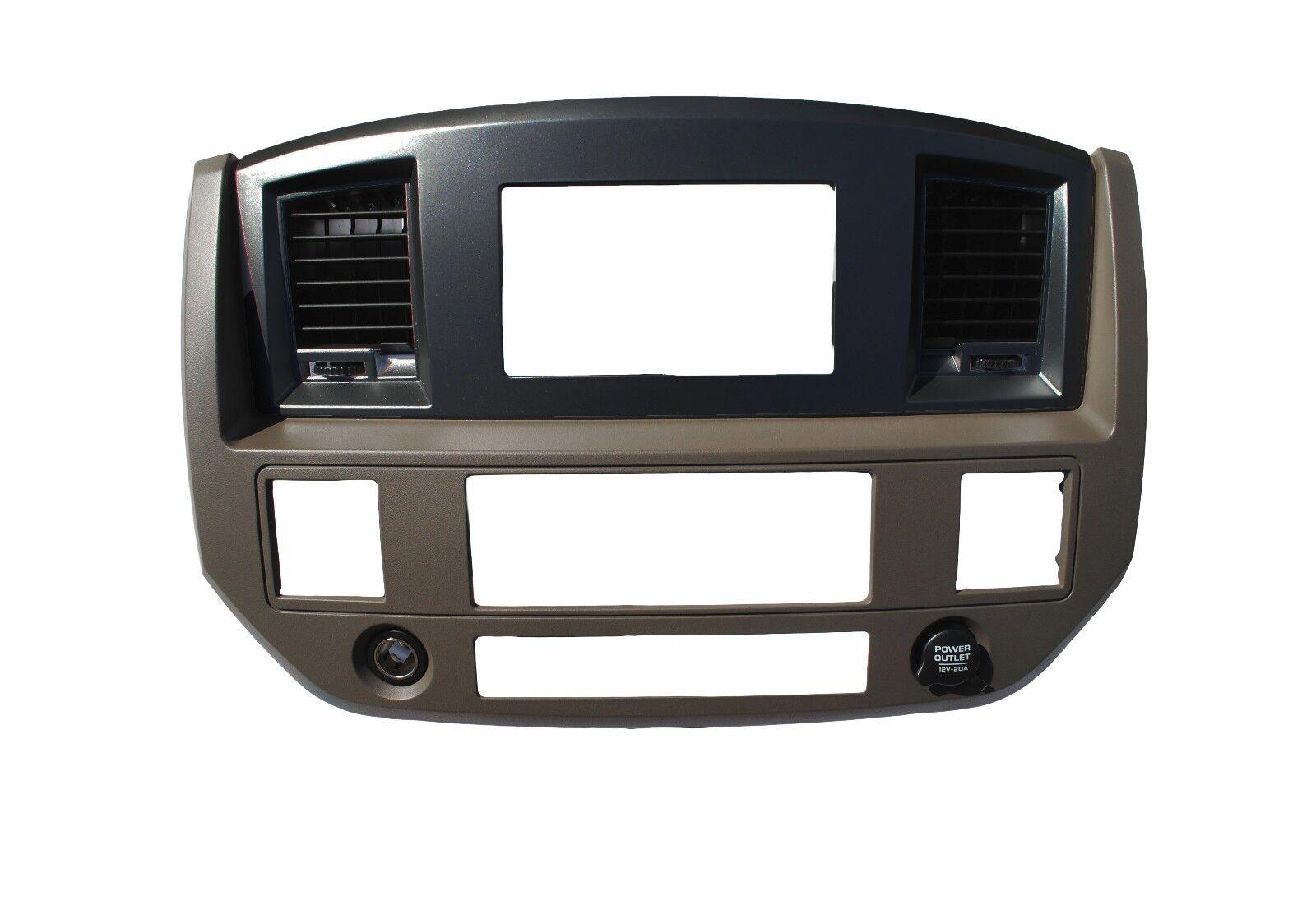 Dodge Ram 2006 07 08 09 Black Silver Bezel Gps Radio W/wi...
