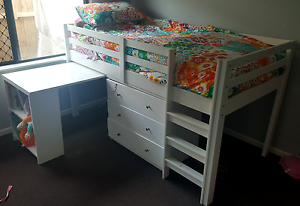 Kids bed with pull out desk Smithfield Cairns City Preview