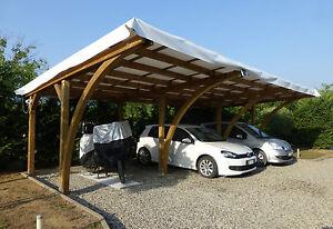 Carport in legno 3 posti auto 9x5xh 2 70 m copertura for Carport 2 posti