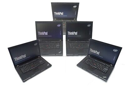 """Lot of 5 Lenovo T510 15.6"""" Laptop i5-520M 2.4GHz 4GB Ram 160GB HDD No Battery/OS"""