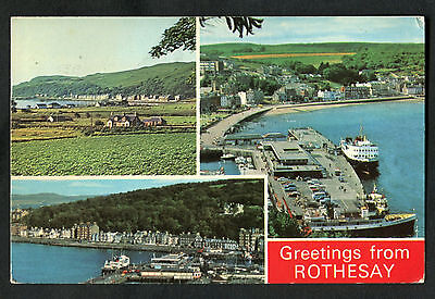 Posted 1978 Multiviews of Rothesay, Bute: Kilchattan Bay