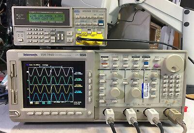 Tektronix Tds784d Oscilloscope 1ghz 4gss 13 1f Hd 2m 2f 2c Cem Jit Eye Lcd