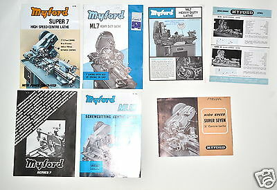 7 Pc Myford Ml7 Super 7 Ml10 Quick Change Lathe Advertisement Lot Rr155