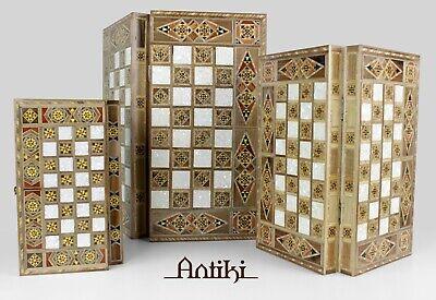 Handmade mosaic wooden backgammon sets (3