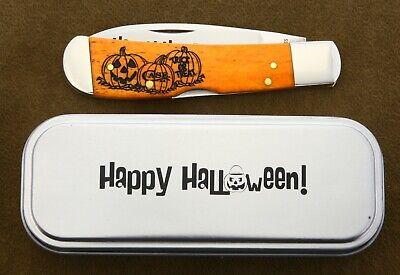 Case Happy Halloween TB612010L SS Tribal Lock knife. Tony Bose
