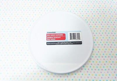 HOME ESSENTIALS ~9.5 in. KITCHEN WHITE LAZY SUSAN CAKE TURNTABLE - NEW, UNOPENED