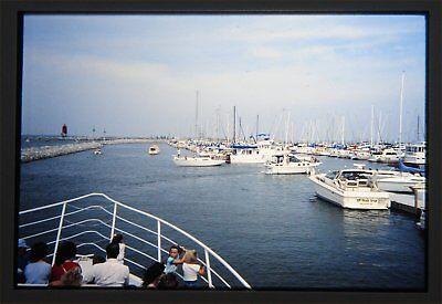 Pleasure Boats in Slip near Milwaukee Wisconsin 1988 Original 35mm slide