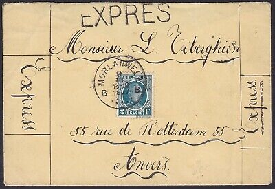 Belgique Belgium 1927 Used stamp on EXPRES Mail MORLANWELZ to Anvers.......A5541