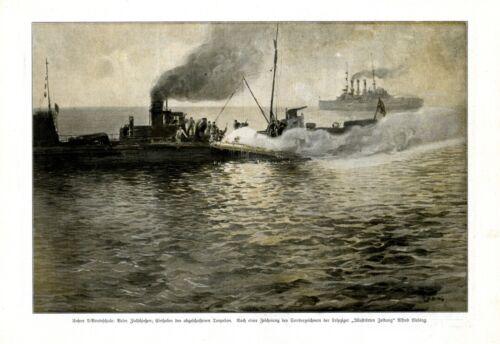 Submarine School XL 1917 art print by Alfred Liebing
