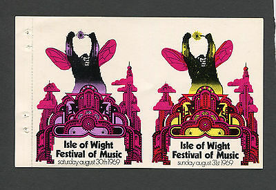 1969 Bob Dylan The Who Moody Blues Joe Cocker Concert Tickets Isle of Wight UK