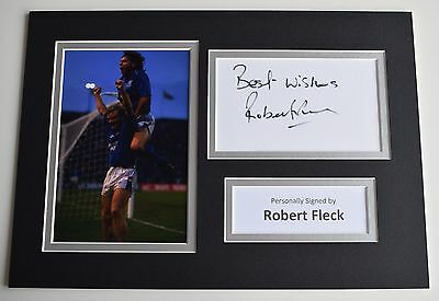Robert Fleck Signed Autograph A4 photo display Glasgow Rangers Football COA