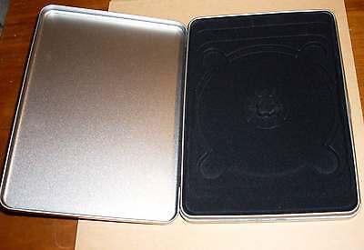 DVD Hülle metalisch Metalcase Steelbook Metalldose silber grau Leerhülle Neu