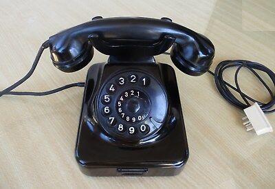 Bakelit Wand (altes Telefon Wandtelefon W48 W49 original Zustand Bakelit schwarz W 48 49 TOP!!)