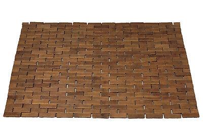 EISL Bambus Badvorleger Badmatte dunkelbraun 50x70 cm - 70% Bambus