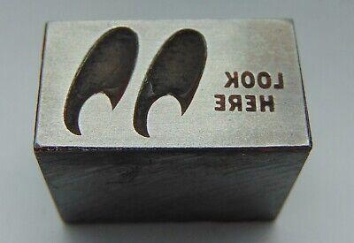 Vintage Printing Letterpress Printers Block Look Here 2 Eyes All Metal
