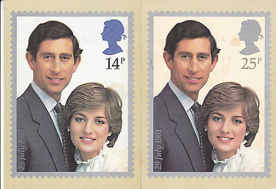 22 JULY 1981 ROYAL WEDDING SET OF PHQ CARDS 53 BETTER SHSs