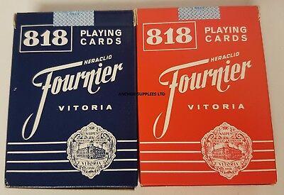 2 PACKS Fournier Playing Cards 818 Gigante 9cm x 6cm (A600)