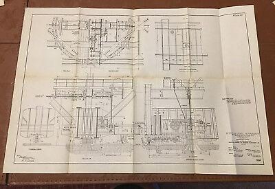 1910 Panama Canal Diagram Showing Emergency Dams for Gatun & Pedro Miguel Locks