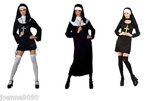 LADIES-SEXY-NUN-FANCY-DRESS-COSTUME-UNIFORM-SAINTS-SINNERS-MOTHER-SUPERIOR-LOT