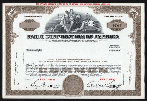 Radio Corporation of America - RCA (Specimen)