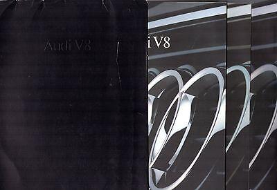 Audi V8 3.6 1990-91 UK Market Sales Brochure Portfolio