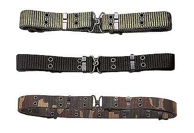 Mini Nylon Belt - Mini Pistol Belts - Military Mini Nylon Pistol Belt - Fits BDU Pants-Camo,OD,Blk