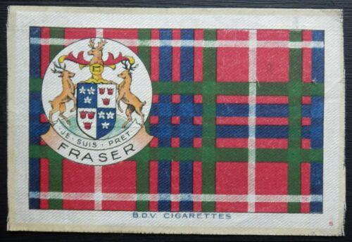 FRASER Clan Tartan and Coat of Arms 1922 SILK card 6