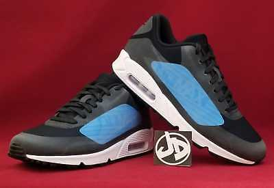NIKE AIR MAX 90 NS GPX BLACK/LASER BLUE RUNNING SHOES ( AJ7182 002 ) SIZE 11.5