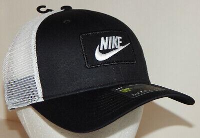 Nike Unisex Classic99 Trucker Cap / Hat NEW Adjustable Dri-Fit Black / White Classic Tweed Hat