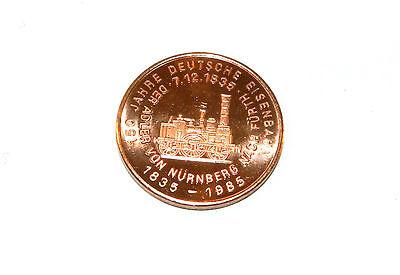 Deutsche Lokomotiven des 19. Jahrhunderts - Aurelia 1882 - Medaille/Münze