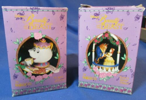 Two Enesco - Beauty and the Beast Ornaments #596094 & 596116 - NIB