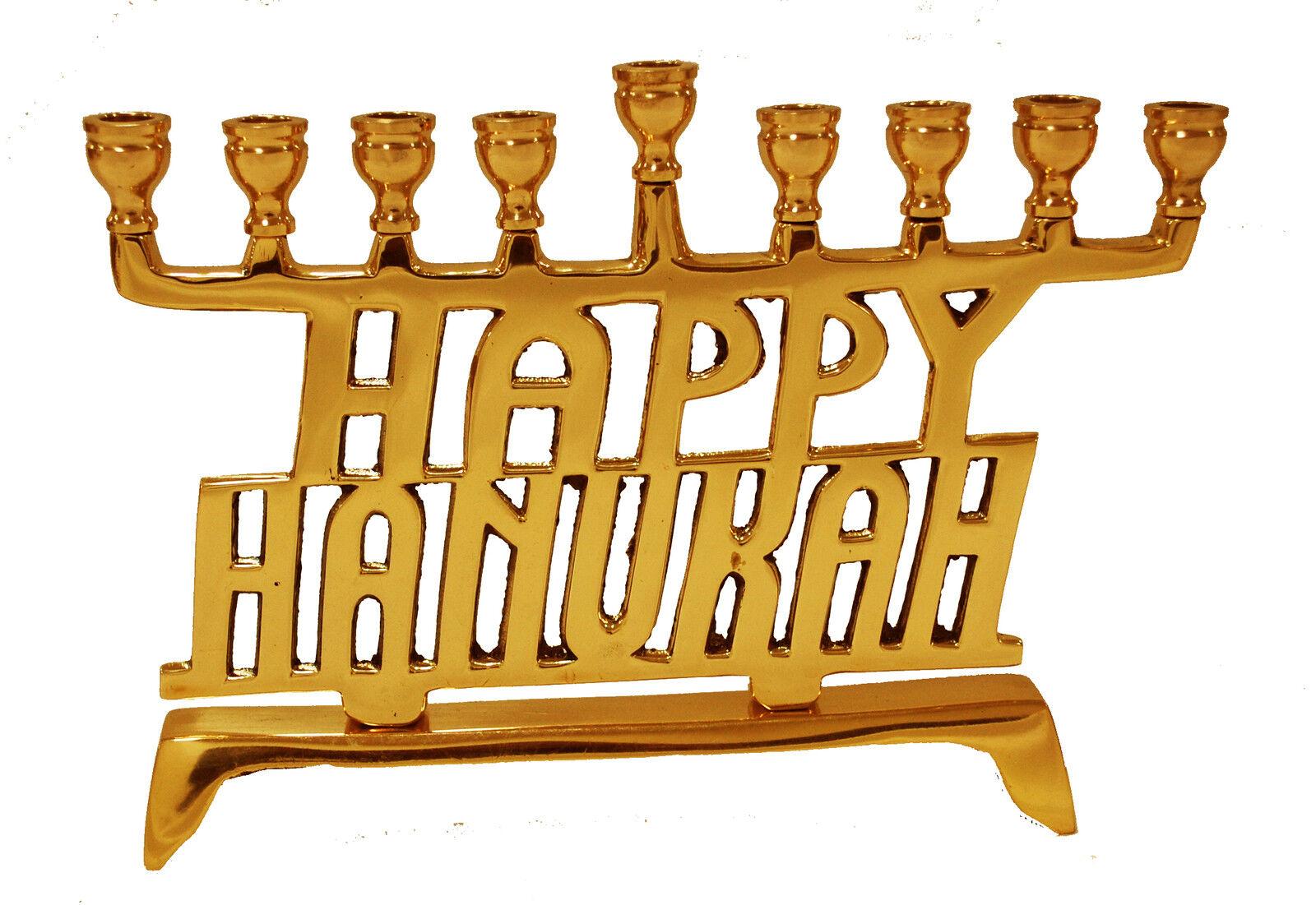 Manorah and Hanukkah Candle Stand