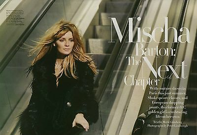 Mischa Barton 6Pg   Cover Harpers Bazaar Magazine Feature  Clippings