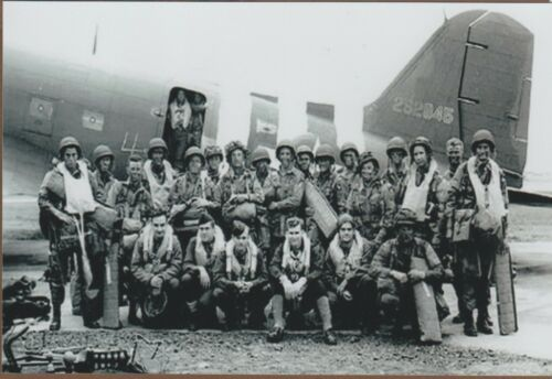 Winters 101st Airborne Band of Brothers WW2 WWII #2002 D-Day Re-Print 5x7