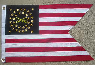 COTTON, 35 Star Civil War Flag, Indian Wars, US Cavalry Guidon, CROSSED SWORDS